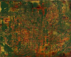 Landscape of Crimson and Green Exercise by Su Meng-hung contemporary artwork