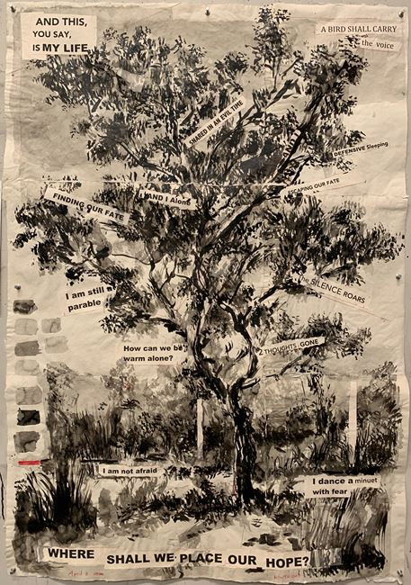 Where Shall We Place Our Hope? (Drawing from a Natural History of the Studio) by William Kentridge contemporary artwork