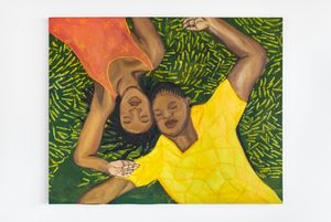Laying in the Grass I by Sola Olulode contemporary artwork