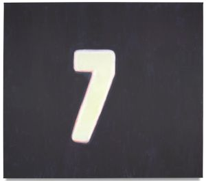 Numbers (Seven) by Luc Tuymans contemporary artwork