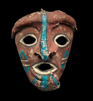 Mask representing an unidentified Kachina by American Indian contemporary artwork