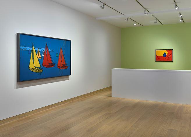 Exhibition view: Patrick Caulfield,Morning, Noon and Night,Waddington Custot, London (11 September–15 November 2019). Courtesy Waddington Custot.
