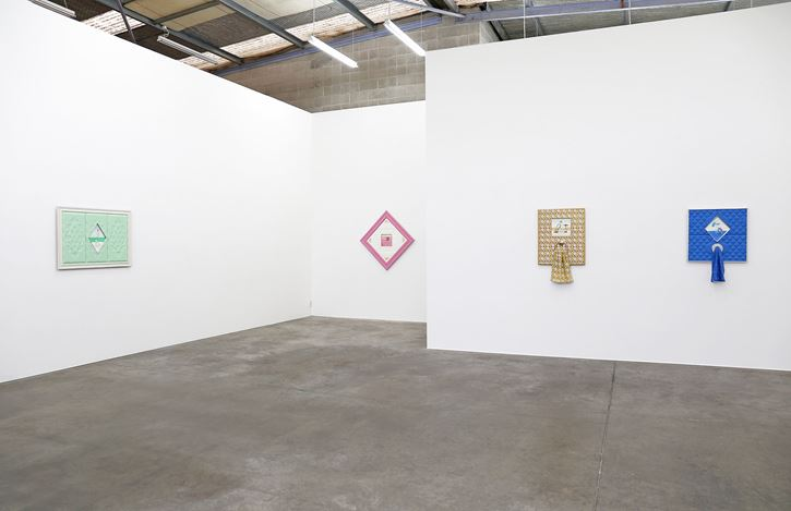 Exhibition view: Emily Hartley-Skudder, Lollygagger, Jonathan Smart Gallery, Christchurch (25 October–23 November 2019). Courtesy Jonathan Smart Gallery.