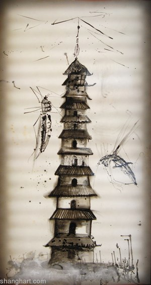 Insects archaeology No.3 by Sun Xun contemporary artwork