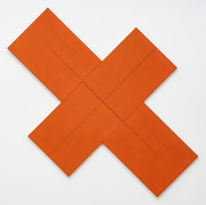 X Within X (Red-Orange) by Robert Mangold contemporary artwork