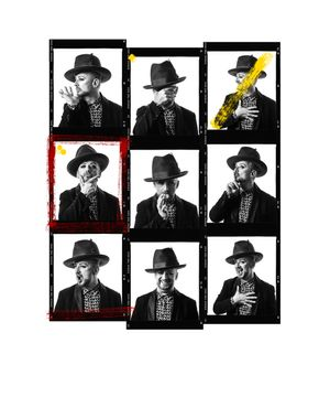 Boy George Contact Sheet by Andy Gotts contemporary artwork photography, print