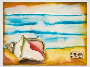 4-13-2020 by Francesco Clemente contemporary artwork