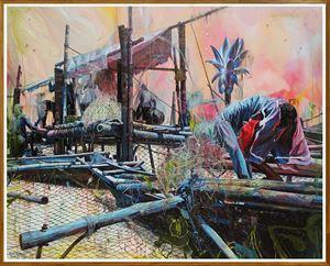 Recess by Ronson Culibrina contemporary artwork painting, mixed media