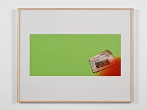 Untitled Green Screen Memory (Fires Still Rage) by Larry Johnson contemporary artwork