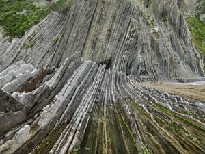 Basque Coast #1, UNESCO Geopark, Zumaia, Spain by Edward Burtynsky contemporary artwork