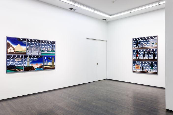 Exhibition view: Roger Brown,Hyperframe, Washington Blvd, Chicago (21 March—2 December 2020). Courtesy Kavi Gupta.