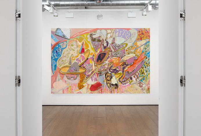 Exhibition view:Larry Poons, Almine Rech, London (3 June—31 July 2021). Courtesy Almine Rech.