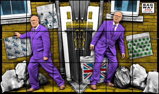 BAG WAY by Gilbert & George contemporary artwork