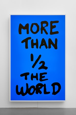 More Than 1/2 The World by Sam Durant contemporary artwork