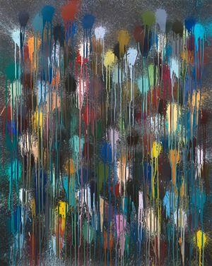 Black Flare by Ian Davenport contemporary artwork