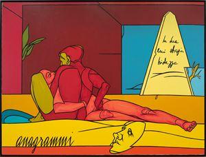 Anagrammi by Valerio Adami contemporary artwork
