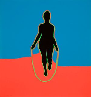 Jump Rope Lady by Idelle Weber contemporary artwork painting