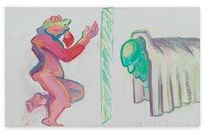 Trauer(Mourning) by Maria Lassnig contemporary artwork