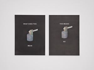 THIS MEANS NO by Laure Prouvost contemporary artwork