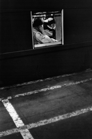 Woman, Square Train Window by Louis Stettner contemporary artwork