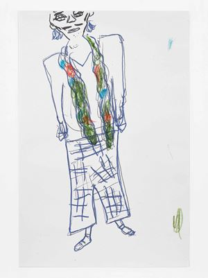 Scarf by Rose Wylie contemporary artwork