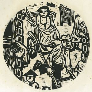 The Woman on the Rickshaw by Chu Wei-Bor contemporary artwork