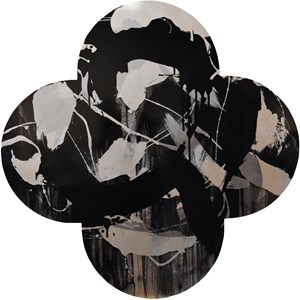Silver Crown by Max Gimblett contemporary artwork