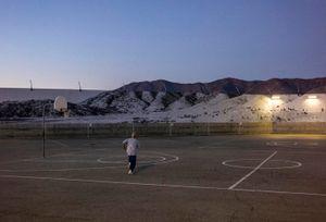 Tehachapi, Mountain, February 7, 2020, 6.48p.m., U.S.A. by JR contemporary artwork
