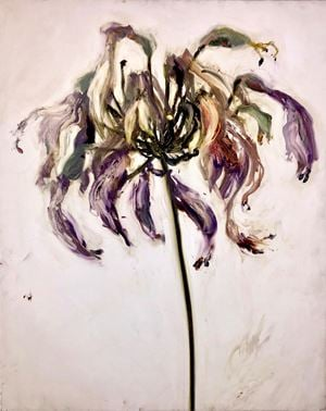 Agapanthus 1 by Gaël Davrinche contemporary artwork