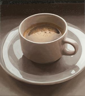 Coffee and cigarettes (Berlin) by Luis Paulo Costa contemporary artwork painting