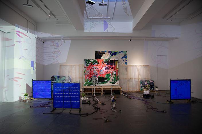 Exhibition view: Zhong Wei, 易变 ▒ 耦态°∶Nёメㄒ 乚ěVéし,de Sarthe, Hong Kong (28 September–16 November 2019). Courtesy de Sarthe.