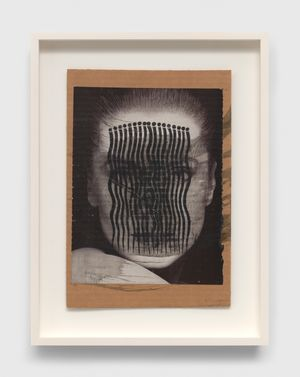 Untitled(Catherine Deneuve with Bridget Riley's Comb) by Ray Johnson contemporary artwork