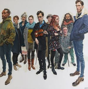 Group Portrait of Florence Citizens by Chen Danqing contemporary artwork