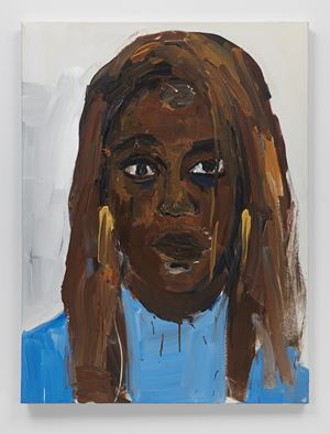 Portrait of Rachel Kaadzi Ghansah by Henry Taylor contemporary artwork
