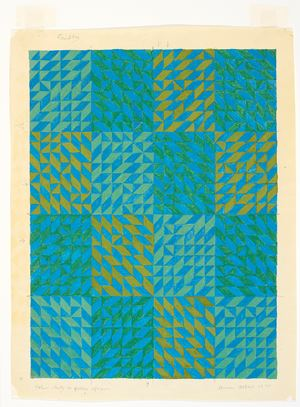 Color Study in Green Squares by Anni Albers contemporary artwork