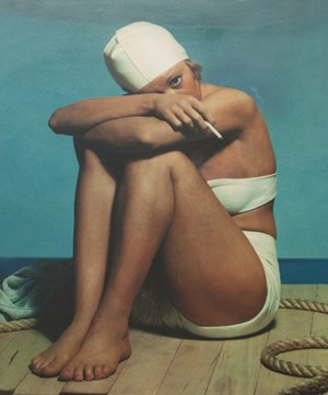 Girl in Bathing Suit by Paul Outerbridge contemporary artwork