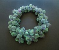 Green Cubes by Mariko Kusumoto contemporary artwork sculpture