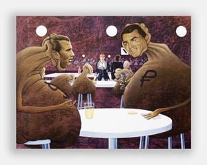 Deutsche Bank Wealth Management Lounge by Jim Shaw contemporary artwork