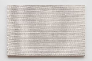 Woven Grid as Warp and Weft, 79 x 79 (White) by Analia Saban contemporary artwork