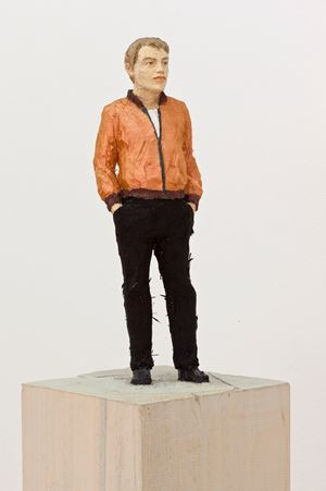 Mann mit Blouson / Man with blouson by Stephan Balkenhol contemporary artwork