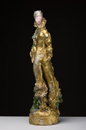 Golden woman by Linda Marrinon contemporary artwork