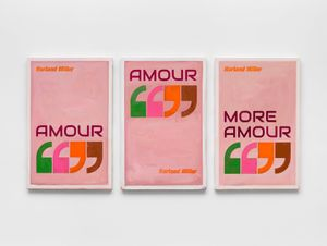 Amour, Amour, More Amour by Harland Miller contemporary artwork painting, works on paper
