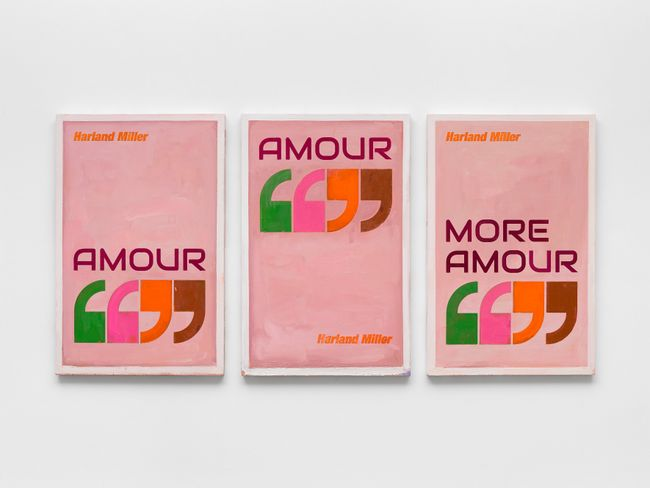 Amour, Amour, More Amour by Harland Miller contemporary artwork