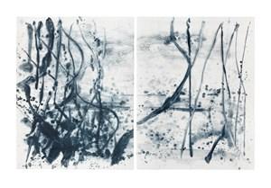 Indigo forest 23 by Shinro Ohtake contemporary artwork
