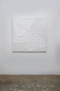 Untitled (White on White #6) by Huseyin Sami contemporary artwork painting