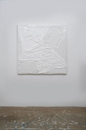 Untitled (White on White #6) by Huseyin Sami contemporary artwork