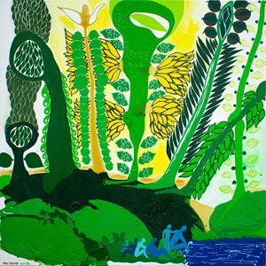 Kamata (to begin) by John Pule contemporary artwork painting