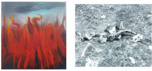 vor meinem haus by Miriam Cahn contemporary artwork painting, photography