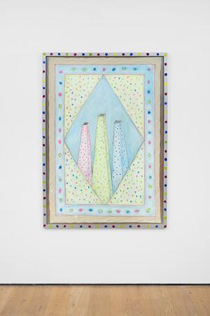 Trilogische Zaubertürme [Trilogical Magic Towers] by Renate Bertlmann contemporary artwork