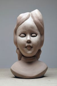 Pink Doll by Cathie Pilkington contemporary artwork sculpture